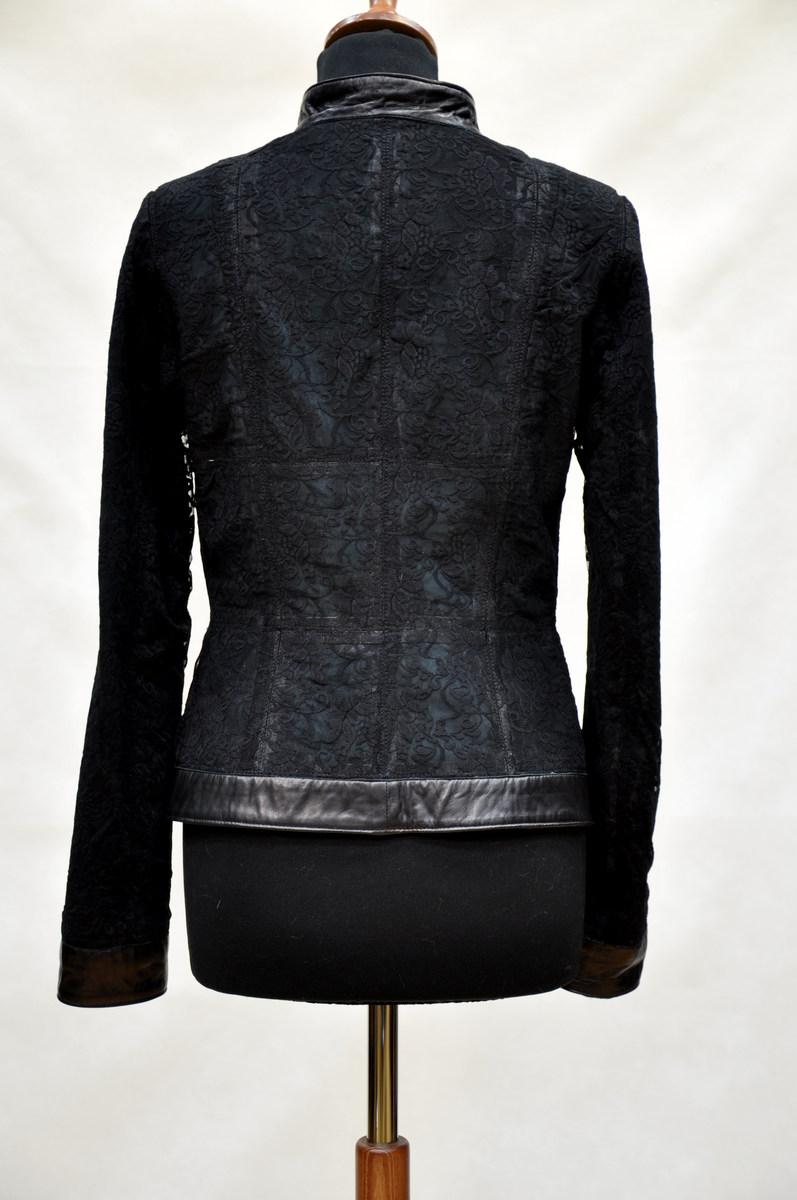Кожаная куртка отделка кружевом своими руками 82