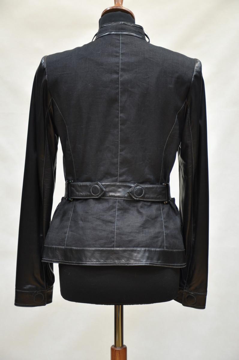 Комбинированные Кожаные Куртки