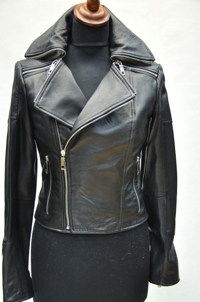 женская кожаная куртка косуха фото
