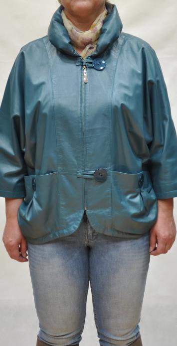 кожаная куртка большого размера из мягкой кожи ягненка