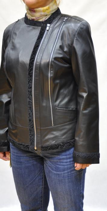 утепленная кожаная куртка на полных