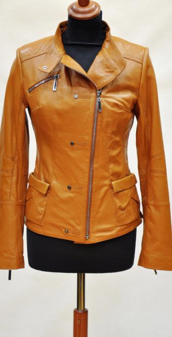 женская кожаная куртка на молнии