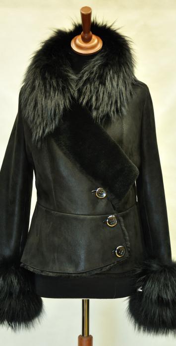 Дубленки женские короткие с мехом, модель 8555 ДФФ