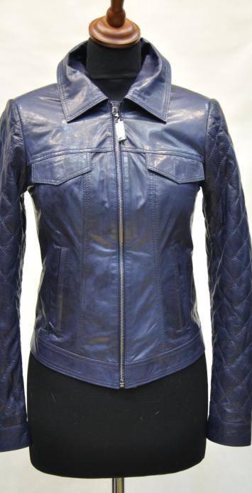 кожаная куртка под джинсу