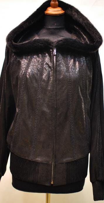 утепленная куртка из натуральной замши