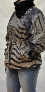 кожаная куртка с покрытием