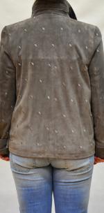 куртка из замши большого размера