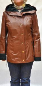 Куртка коричневая, модель: 2829 ЛУК