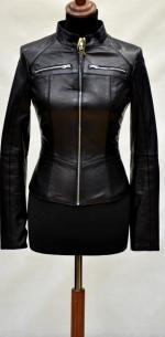 короткая кожаная куртка женская