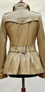 Кожаная куртка двубортная