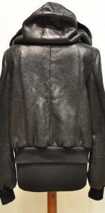 дубленка-куртка с капюшоном