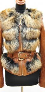 женская кожаная куртка жилетка