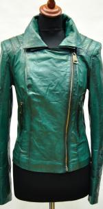 Кожаная курткаженская, приталеная