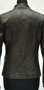 пиджак из стиранной кожи