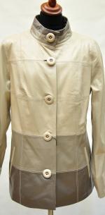 женский кожаный пиджак большого размера