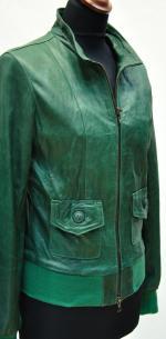 куртка бомбер из кожи