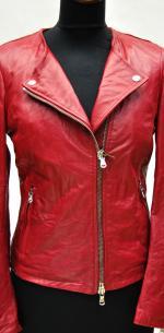 куртка на косой молнии