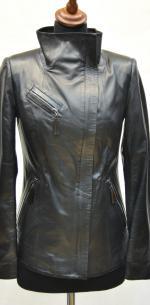 женская кожаная куртка со стойкой