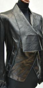 куртка кожаная с одной застежкой