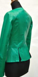 кожаная куртка с баской