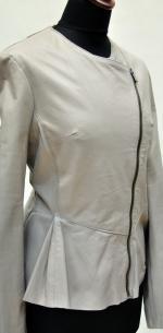 куртка с баской на косой молнии