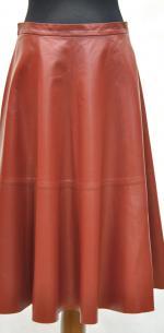 удлиненная кожаная юбка-солнце