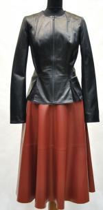 юбка из натуральной кожи