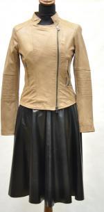 расклешенная кожаная юбка