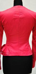 Кожаные куртки с баской, вид сзади