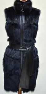 меховая жилетка женская