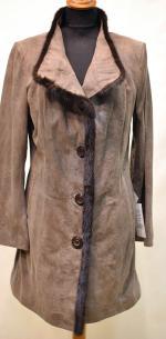 удлиненная кожаная куртка большого размера женская