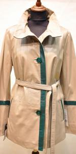 весенний женский кожаный пиджак