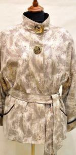 куртка из кожи с накатом