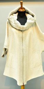 комбинированная куртка с капюшоном