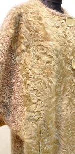 мохеровый жилет с мехом
