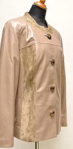 пиджак с замшевой отделкой