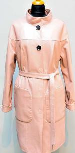 розовый кожаный плащ