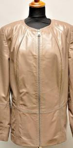 бежевая куртка из кожи