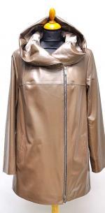 прямая кожаная куртка